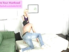rene sissyfies her roomate 1 ballbusting leggings