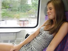 Caprice on a train