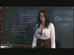 Busty Teacher And Two Classmates Fucking