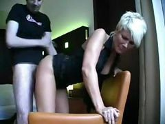 Blonde Milf Sucks On A Long Cock And Then Gets Ass Fucked