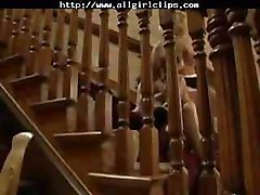 Stairway To Strapon lesbian girl on girl lesbians