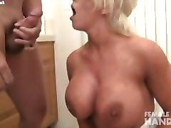 alura jenson gives a handjob gets a facial