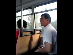 caught jerking off in the bus