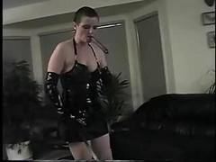 Strict Mistress Controls The Time Of Her Husband's Orgasm Precisely