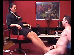 german mistress shoejob footjob
