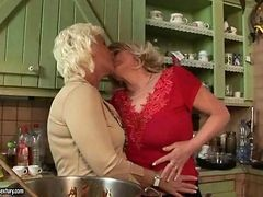 Two Grannies And Teen Girl Having Lesbian Fun
