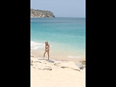 topless mature wife at the beach