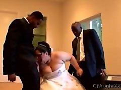 super fat bride before the wedding, the groomsmen ejaculation in the body