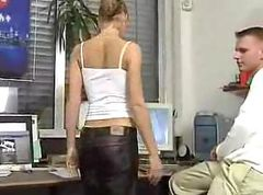 Young cute office girlgets hot fucking