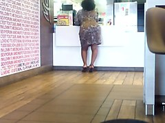 mature lady posing at mcdonalds!