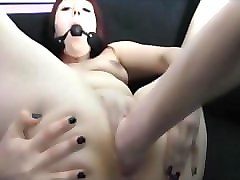 fistfucking a wet redhead milf pussy