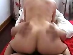 chinese threesome sex party with hot asian beautiful girl blowjob