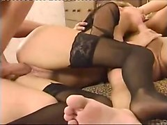 russian threesome mmf fuck