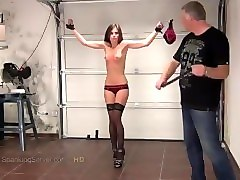 caprice tit whipping