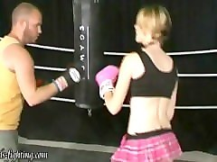 gf kate beats guy in the ring