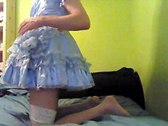 sissy dressing and playing part 2