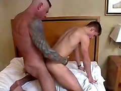 hot twink fucked by older guy and big black dildo