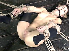 it's time to play with yulia's nipples in a pretty rough bondage way