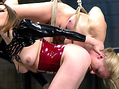 Best anal, fetish adult video with hottest pornstars Maitresse Madeline Marlowe and Dia Zerva from Whippedass