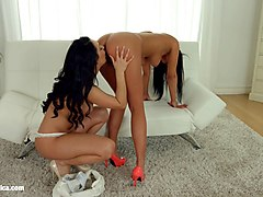 lesbian scene with rozalina love and charlotte by sapphic erotica