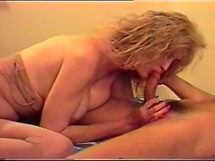 Older Blonde Fucking Sucking Younger Guy