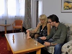German Amteur Swinger Mom Moni and Dildo Sales Guy