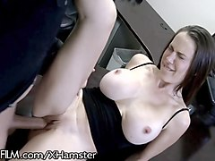 busty british cougar hits on husbands employee