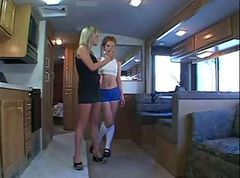 Double Dildo Madness InThe RV milf ass