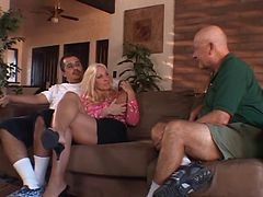 Horny Old Husband Watches His Hot Blonde Wife Fuck A Black Guy