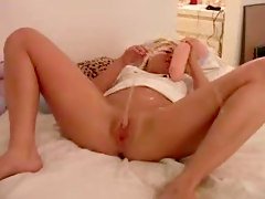 Sexy Blonde Squirts Gallons Of Pussy Juice