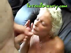 Granny Blows Gets Fucked And Facialized