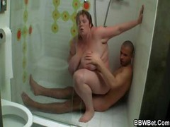 Big Woman Rides Cock In The Shower