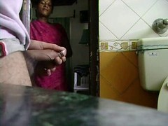 Indian Maid Watches Him Jack Off