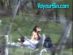 Outdoor Blowjob Caught By A Peeper